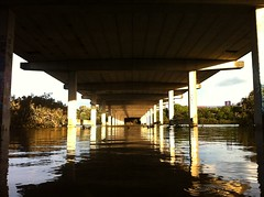 Under The Bridge (puting bagwis) Tags: bridge sunset sooc iphone4