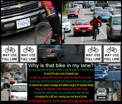 Why is that Bike in my Lane? (professional recreationalist) Tags: road bike bicycle brucedean professionalrecreationalist share victoriabc way2narrow