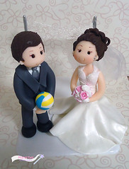 "topo de bolo ""Volei"" (mara.boarao) Tags: casamento noiva volei noivo noivinhos bolodenoiva topodebolobiscuit jogadordevolei"