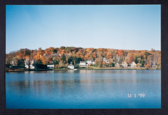 Cold Spring Harbor, Autumn 1999 - Photographed by James D. Watson (CSHL Archives) Tags: autumn fall longisland northshore coldspringharbor cshl coldspringharborlaboratory jamesdwatson