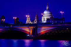 St Pauls Cathedral (Paki Nuttah) Tags: city uk blue light england building london church st thames architecture night river dark religious twilight europe cityscape cathedral religion ngc pauls christian hour gb christianity illuminate spiritofphotography flickrtravelaward
