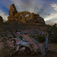 Turret Arch Sunset (lauraxfire) Tags: utah arches moab archesnationalpark turretarch cabeen
