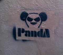 Panda (Trefoil) Tags: austin graffiti stencil panda tx