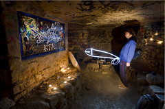 Light Painting Cock (Alexander JE Bradley) Tags: longexposure light urban lightpainting paris france abandoned underground french photography nikon comedy candles artist gallery digging empty 14 neglected australian tunnel cock explore torch forgotten mines bite disused mineshaft discarded passage catacombs subterranean exploration idle fr crypt quarry deserted excavation pretending urbex unused photographe lightdrawing parisien quarries 75014 jonathanbennett unoccupied cockface carrières psyckose 1424mm labyrinthmaze carrièresdeparis d7000 parisîledefrance jonbennett laboutik alexanderbradley alexbradley alexanderjebradley grandréseausud pretendingthingsareacock jonbennettcomedy legrandréseausuddescarrièresdeparis legrandréseausuddescarriè