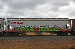 Keep6 Nacs (The Braindead) Tags: street art minnesota train bench photography graffiti painted tracks minneapolis twin rail explore beyond cp nacs sdk the braindead cites keep6