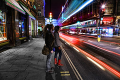 Towards Piccadilly Circus (Anatoleya) Tags: street light people 3 london night canon prime evening long exposure traffic circus mark f14 iii trails piccadilly le ave 5d 24mm avenue hdr shaftesbury shaftsbury f14l 5d3 anatoleya