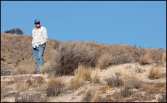 Rick on a bluff (greenthumb_38) Tags: railroad up train desert trains tradition silverwood pilgrimage bnsf cajon cajonpass canon40d desertrailroading jeffreybass cpsilverwood cajonpilgrimage pilgrimshill