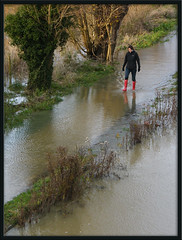 red wellies on the Thames Path (Isisbridge) Tags: uk november england english water thames river flood britain path oxford british footpath isis oxfordshire waterway towpath 2012 flooded longbridge