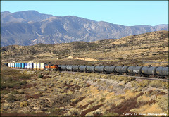 Two Past Pilgrim Hill (El Roco Photography) Tags: california railroad santafe train canon outdoors photographer desert rail trains socal mojave transportation summit locomotive ge silverwood railfan bnsf trainspotting cajon desertlandscape mojavedesert freighttrain sanbernardinocalifornia desertflora inlandempire sanbernardinocounty pilgrimhill forestservice emd atsf usfs burlingtonnorthernsantafe desertmountains cajonpass es44dc gevo railfans alltrains alray stacktrain bnsfrailroad traininaction burlingtonnorthernsantaferailroad hill582 movingtrains desertshrub desertbeauty deserttrains aphotographersnature elrocophotography sanbernardinorailroads 3n45 forestserviceroad3n45 bnsfcajonsubdivision