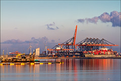 euromax (heavenuphere) Tags: reflection industry netherlands port rotterdam europe industrial ship harbour nederland terminal cranes container infrastructure land maasvlakte containers 70200mm zuidholland ect southholland portofrotterdam reclamed euromax tweedemaasvlakte maasvlakte2
