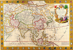 Antique Maps (divinumphoto) Tags: map antiquemapsoftheworld mapofasia guillaumedanet c1732