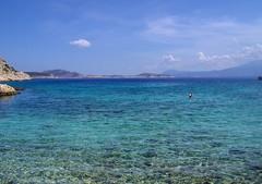 Chalki-kania beach (silvia07(very busy)) Tags: blue sea holidays mediterraneo day mare blu clear greece grecia vacanze dodecanese chalki egeo dodecaneso