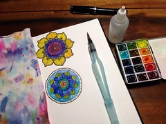 Sketchbook (MagaMerlina) Tags: mandala sketchbook watercolour watercolors watercolours artsupplies artjournal mandalas watercolr artistjournal winsorandnewton artjournals artistjournals bijoubox watercolourjournal watercolourjournaling stillmanbirn stillmanandbirn