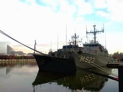 Minesweepers Sakala and Narcis (Ivan Lian) Tags: london ship navy docklands canarywharf narcis minesweeper m314 westindiadocks sakala m923 flickrandroidapp:filter=none