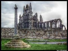 St Hilda's Abbey, Whitby (mancunian61) Tags: couple negative ghosts inverted monocrhome