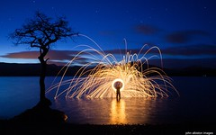 millarochy madness (john&mairi) Tags: lightpainting stars star twilight dusk loch lochlomond lonetree wirewool millarochy millarochybay