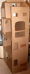 Barbie Cardboard Dollhouse 2011 2012 (Loulou Chocolat) Tags: stairs barbie cardboard carton makingof dollhouse ascenceur escaliers tages maisondepoupe