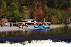 Ocoee Rafters (Mr. Low Notes) Tags: fall river 1996 olympics ocoee rafts quot waterquot quotwhite riverquot quotocoee quot1996