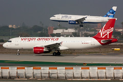 N638VA Virgin America A320-200 (Positive Rate) Tags: trip travel sky airplane airport aviation jet lax airliner jetliner airbusa320 sanfranciscopride commercialaviation a320200 klax commercialairplane aviationphotography virginamerica a320214 n638va