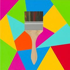Magic charm Brush. 30 x 30 cm. Acrylic on linen. 2012