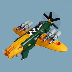 Budai Zero - Sky Fighter (Fredoichi) Tags: plane fighter lego space military micro fighterplane shootemup skyfi shmup microscale skyfighter fredoichi dieselpunki