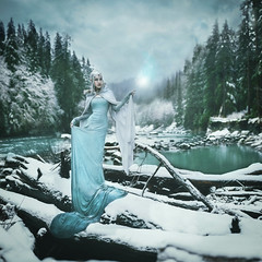 Kathal - Daughters of Earth (Kindra Nikole) Tags: winter white cold ice clouds silver spirit teal elf fairy cloak icy float enchanted billow fae elvish elven