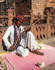 A man busking in Rajasthan (karanmitra) Tags: portrait music india man money color heritage canon lost concentration artist powershot getty turban classicalmusic busking oldbuilding rajasthan lostinmusic busk goldenratio indianmusic musicartist ixus95is canonixus95is sd1200 canonpowershotsd1200 rajasthanimusic rahashanmusic
