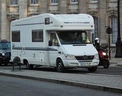 Autotrail Scout Campervan (kenjonbro) Tags: uk england white westminster trafalgarsquare scout mercedesbenz camper mobilehome charingcross campervan sw1 sprinter motorcaravan caravanette kenjonbro 313cdi fujifilmfinepixhs10 x447njb