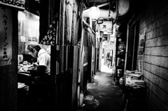 Morning noodles Osaka Tsuruhashi market (maxwellkimi) Tags: japan noodle shop gr osaka alley lantern