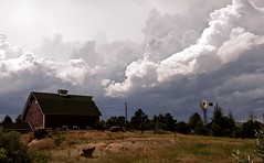 Dog Days (Chamblin1) Tags: country clouds stormy farm windmill pasture