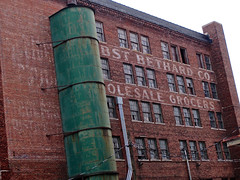 Jobst Bethard Company, Peoria, IL (Robby Virus) Tags: peoria illinois ghost sign signage faded painted architecture brick building industry industrial wholesale grocers company abandoned