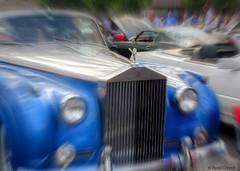 Rolls Royce - With Emphasis (zendt66) Tags: zendt66 zendt nikon d7200 weekly photo theme challenge assigment 52weeks2016 blue hdr photomatix okc coffeeandcars rollsroyce focal zoom picasa