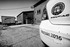 Just Like That (atenpo) Tags: bernie sanders bumper sticker socialist french voila jingletown oakland ca california eastbay alameda 880 freeway 2016 election pointiac union