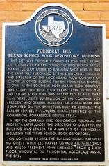 JFK - Texas School Book Depository Building - Dealey Plaza - Dallas Texas - Image 2 (Dan Davila) Tags: texas school book plaza dallas depository building dealey john f kennedy wall marker info information title