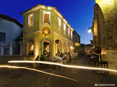 Xanthi old town (and641) Tags: nikond5100 bluehour greece xanthi oldtown cafe longexposure wideangle thrace tokinaaf1116mmf28 city