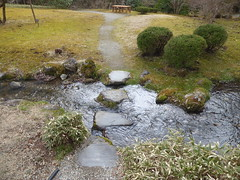 Stepping stones across a stream (seikinsou) Tags: japan nikko spring emperor tamozawa palace villa residence museum visit garden stream water stepping stone