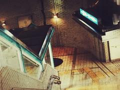 Subway Entrance (Jon-F, themachine) Tags: jonfu 2016 olympus omd em5markii em5ii  mirrorless mirrorlesscamera microfourthirds micro43 m43 mft ft     em5mkii em5mk2 em5mark2 snapseed japan  nihon nippon   japn  japo xapn asia  asian fareast orient oriental aichi   chubu chuubu   nagoya  station stations trainstation
