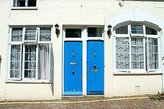 white and blue (alice.bolognesi) Tags: london travel londra blue white house architecture design doors street city