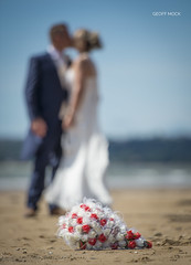 Untitled (Geoff Mock) Tags: bay beach bokeh bride bridegroom wedding bouquet flower weddng gower kiss nikon nikond610 nikon70200mm sand