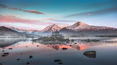 Dawn on the Moors (Jerry Fryer) Tags: landscape moors moorland glencoe scotland highlands lochan blackmount rannochmoor dawn sunrise reflection snow snowcoveredmountains lake island nature tree canon 5dmk2 ef1740mmf4l clouds pink leefilters sky water