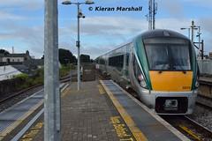 22010+22056 depart Portlaoise, 5/9/16 (hurricanemk1c) Tags: railways railway train trains irish rail irishrail iarnród éireann iarnródéireann portlaoise 2016 22000 rotem icr rok 3pce 0830heustonportlaoise 22010