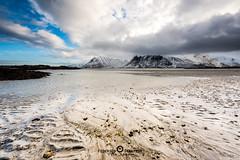 """Lofoten2016-2 (Federico """"Jger"""" Serafini) Tags: norvegia lofoten ghiaccio rocce rocks norway aurora boreale northern light clouds nuvole sea spiaggia long exposure"""