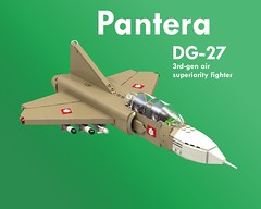 Pantera DG-27 (Thomas of Tortuga) Tags: ldd lego render povray jet fighter dcvi cold war
