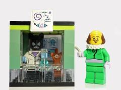 Alive or dead? (Lego Biologist) Tags: lego science quantum philosophy biology laboratory biologist legomoc moc legominifigures