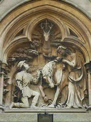St Hubert's Vision, St Marie's, Rugby (Aidan McRae Thomson) Tags: rugby church catholic warwickshire sculpture relief