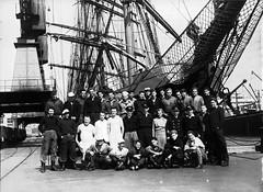 136; Group photograph of Pamir crew, Wellington - Circa 1940 (Wellington City Council) Tags: wellington historicwellington 1800s 1900s 1950s