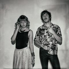 Double Portrait #3 (drugodragodiego (Thanks 2 million!)) Tags: kick music duo electro electronic pop indiepop triphop chiara blackandwhite blackwhite bw biancoenero monochrome portrait ritratto pentax pentaxk1 k1 hdpentaxdfa2470mmf28edsdmwr pentaxiani