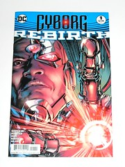 cyborg rebirth issue 1 dc comics november 2016 comic (tjparkside) Tags: cyborg rebirth comic comics book books issue one 1 dc nov november 2016 vic victor stone part human machine next evolution jl justice league super powers reg regular cover semper jr pelletier hope kordos major imitation life prologue