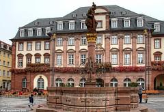 Rathaus, The City Hall of Heidelberg Germany (PhotosToArtByMike) Tags: heidelberggermany rathaus cityhall marktplatz marketsquare heidelberg germany kornmarkt cornmarket neckarriver oldtownheidelberg medieval neckarvalley badenwrttemberg europe