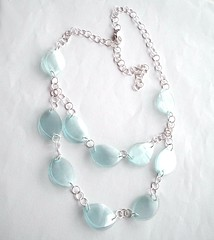 Mint green necklace (d'ekoprojects) Tags: recycled handmade ecofriendly handmadejewelry upcycled recycledjewelry ecofriendlyjewelry upcycledjewelry